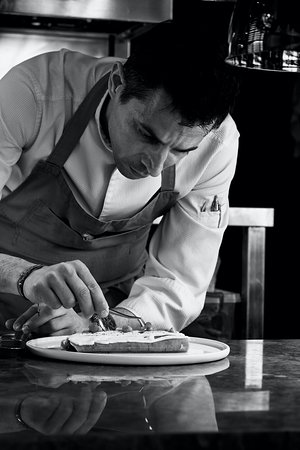 Executive Chef Alexandros Charalambopoulos in action