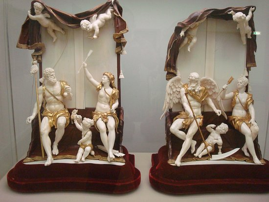 Hercules and Omphale (ca. 1750; Simon Troyer). Chronos und Veritas (ca. 1750; Simon Troyer)
