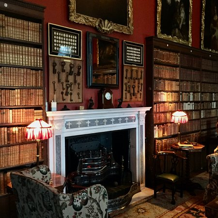 Kingston Lacy: The Library (take to of the display of keys on the overmantel)