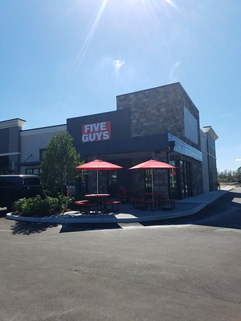 Five Guys Storefront and Patio