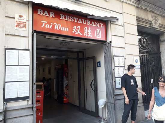 Outside of the Tai Wan restaurant