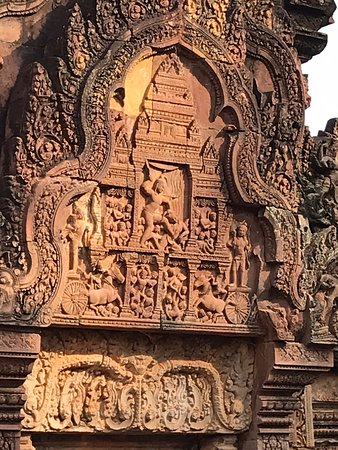 Exquisite detail in one of the oldest Angkor temples