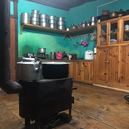 Haa District, Bhutan: Kitchen / living room (the warm area of the house)
