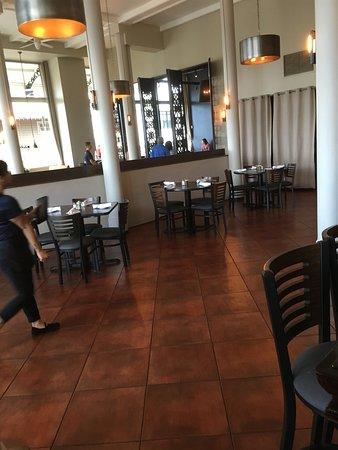 Large open floor plan at  Jackie Rey's.