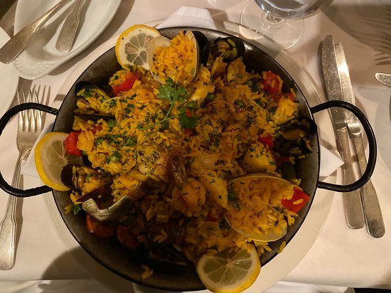 Paella (arroz valenciana).  This could have been for two.