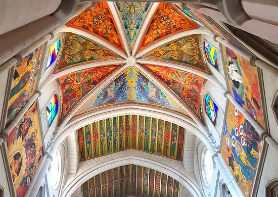 Incredibly colourful and detailed ceiling