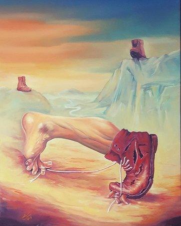 """Neophobia Néophobie oil on canvas 24""""x30"""""""