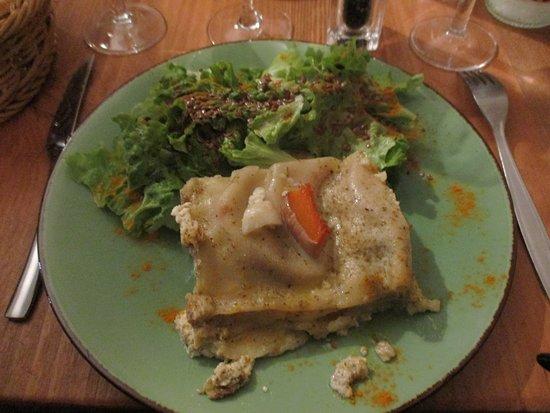 Lasagnes au butternut parmesan et mozzarella