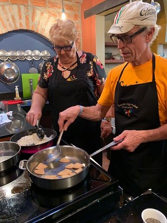 We had such fun cooking the food and eating it. We thoroughly enjoyed the chicken mole, salsa, guacamole, tortilla soup, sweet potato brownies and the hibiscus margarita
