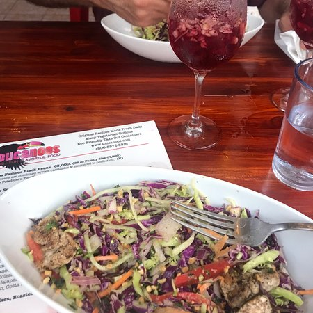 The reviews are right on! Delicious food, so healthy and willing to meet your dietary needs. My salad with out the noodles was out of this world!