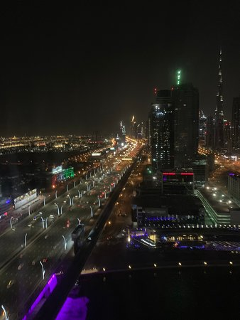 The nighttiDubai from our room!
