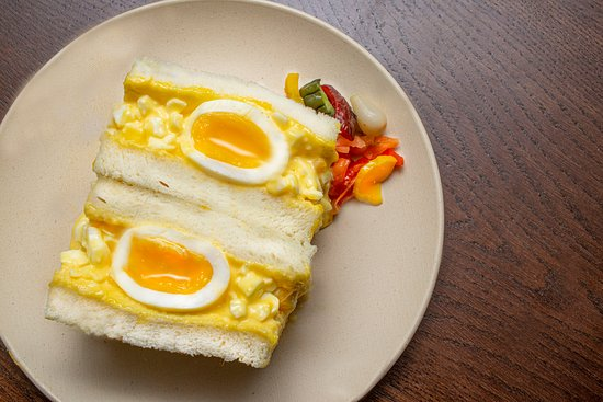 Tamago Sando - Japanese style egg salad on fluffy shokupan.