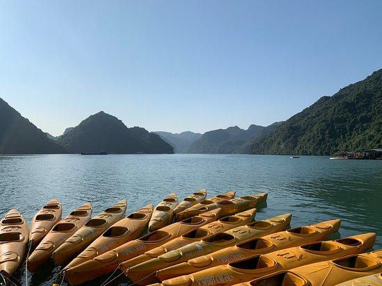 Perla Dawn Sails 2 Days 1 Night - Lan Ha Bay Luxury Cruise: Kajak fahren