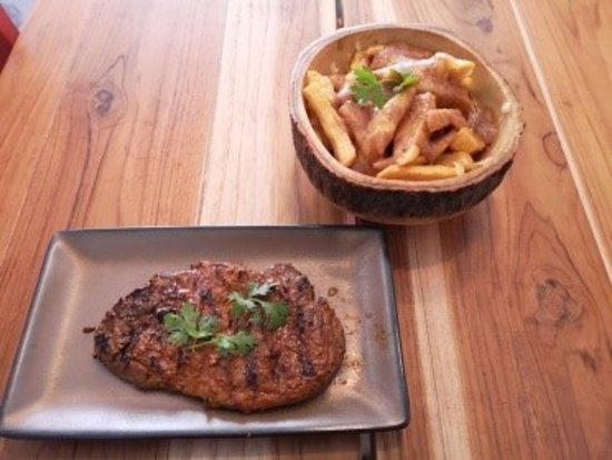 Steak and poutine from Canada