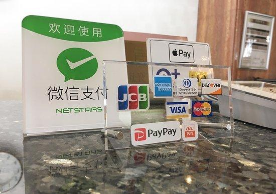 Qr決済対応済みです お支払いは現金 クレジットカードをはじめ