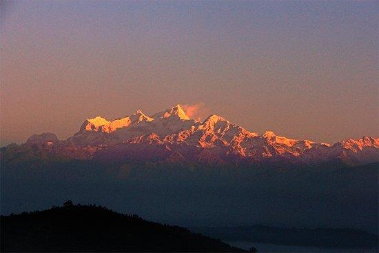 Himalayan sunrise view from Shreeban Nature Camp.
