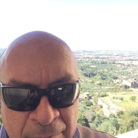 Tivoli in Villa D'Este by John enjoying magnificent view from gardens.