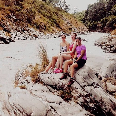 Guests enjoying a sunny day in the Seti River Canyon
