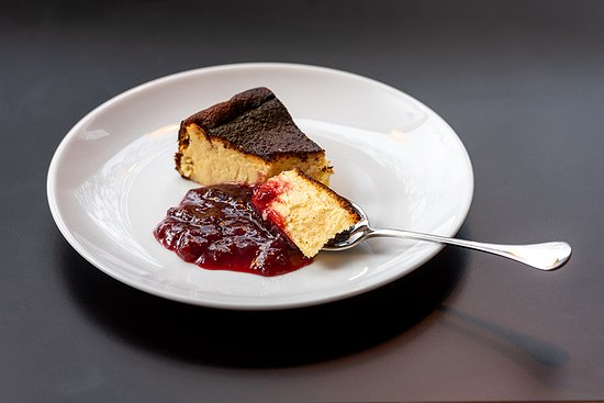 Traditional Basque cheesecake