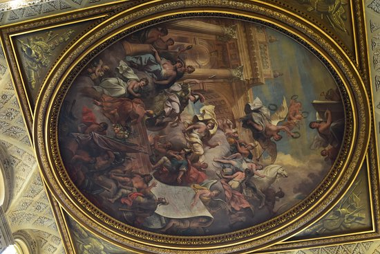 Biglietto d'ingresso al Blenheim Palace: A memorial to the duke - on the ceiling - yowser