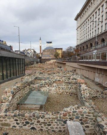 Serdica ruins in Sofia Center district
