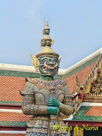 Guardian Demon at the Emerald Buddha Temple