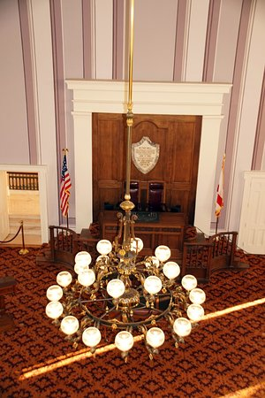 Chandelier in the House Chamber.