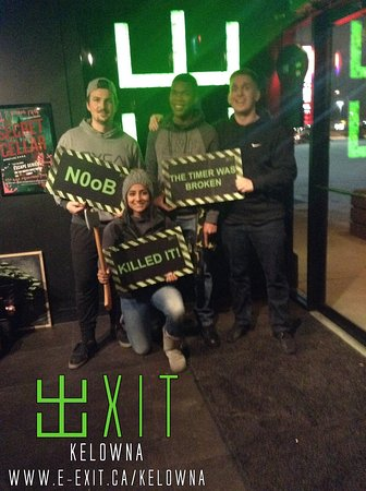 Here's some of our awesome escapee's from Dec 1 - 7 2019. Many failed and succeeded! Try your luck today! #ExitKelowna #kelownaescapegames https://www.facebook.com/ExitKelowna/photos/?tab=album&album_id=2600294513380330