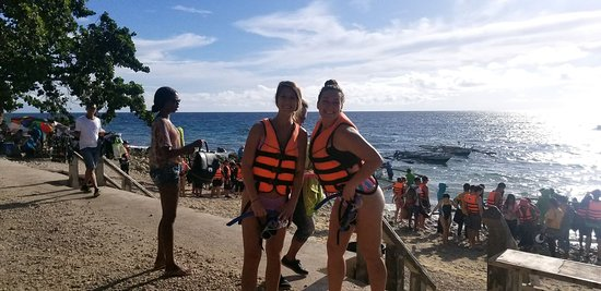 Before swimming with whale sharks.