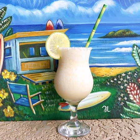 Hemingway's offers many delicious in-house specialty cocktail's like this mouth watering Coconut margarita.