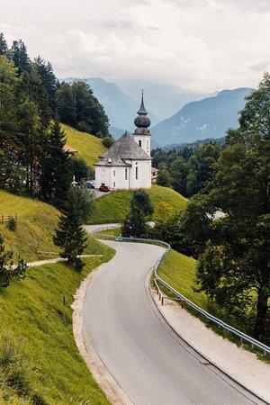 Баварские Альпы, Германия: Windy roads.