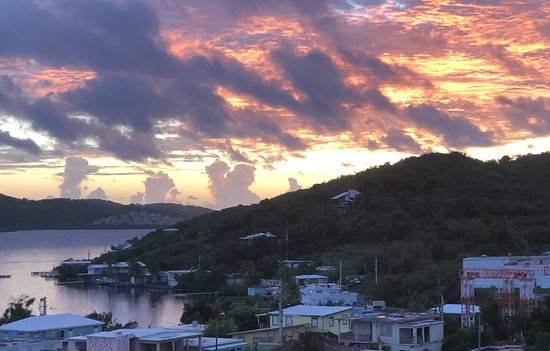 Daybreak over Culebra town