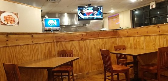 Nice Dining area with authentic music and sports on TV usually.