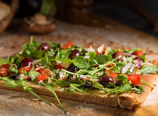 Multigrain crust options- Arugula Pizza