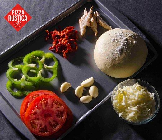 Never frozen dough or vegetables!