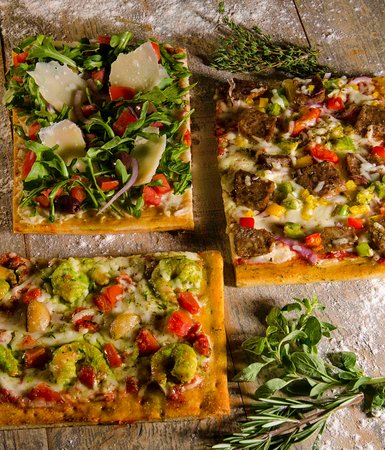 More than 20 pizza options, Rustica Slices