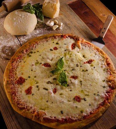 Margherita Pizza ! Melted mozzarella cheese !