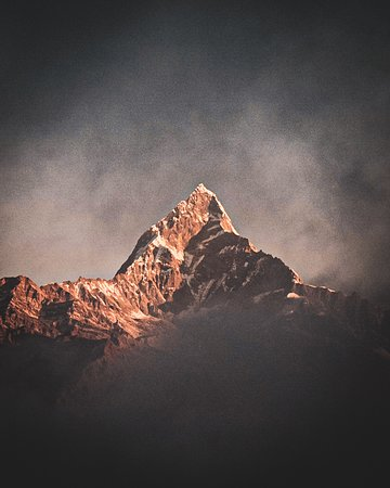 Mount Fishtail, seen from Sarangkot during sunrise