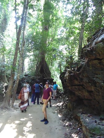Near to cave