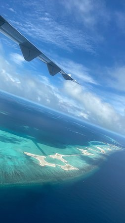 View from the plane from Male to Maamigili, South Ari Atoll