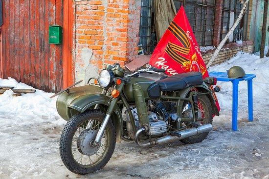 Можайский район, Россия: Советский мотоцикл ДНЕПР!