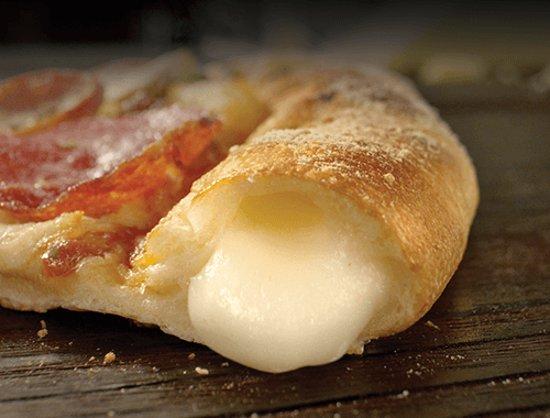 Mmmm...cheesy crust!