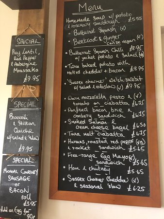 Our menu changes regularly but this was it on a day in November!