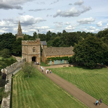 Broughton Castle: The Gatehouse as seen from the roof
