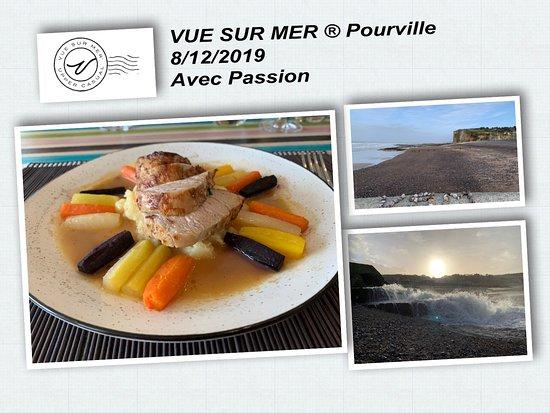 Pourville-sur-Mer, Francúzsko: Noix de quasi de veau aux carottes
