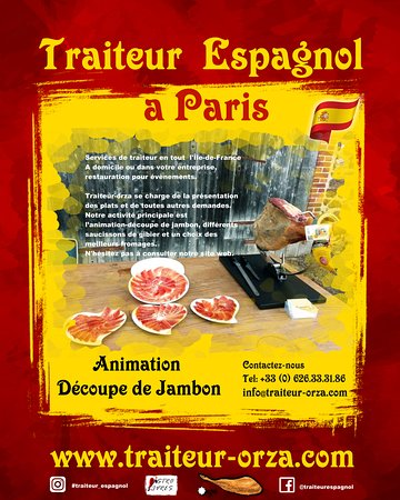 "Paris, Frankreich: If you are looking something special on your event, we have your solution in France. ""Animation Découpe de Jambon"" - Traiteur-Orza"