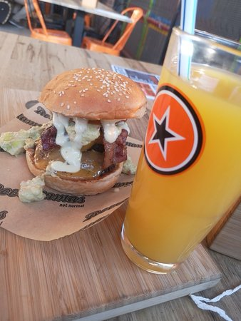 Nice and Freshly done burger with Nice Juice