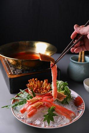 red king crab shabu shabu