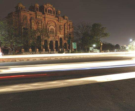Light trails at Patrika Gate, Jawahar circle.