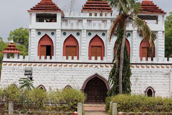 Closer view of Kattabomman Memorial Fort